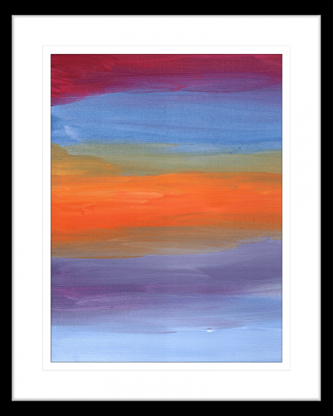 Modern-Abstracts-Collection-08-Summer-Soiree-Framed-Art-Print-ABS08-Black-Frame